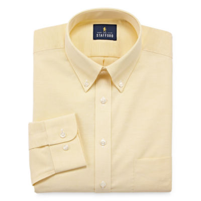 Stafford Stafford Travel Wrinkle-Free Oxford Big And Tall Long Sleeve Oxford Dress Shirt