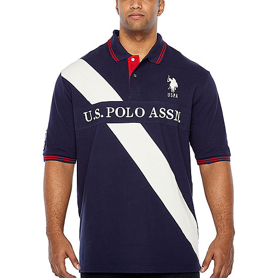 Us Polo Assn Embroidered Short Sleeve Stripe Polo Shirt Big And Tall