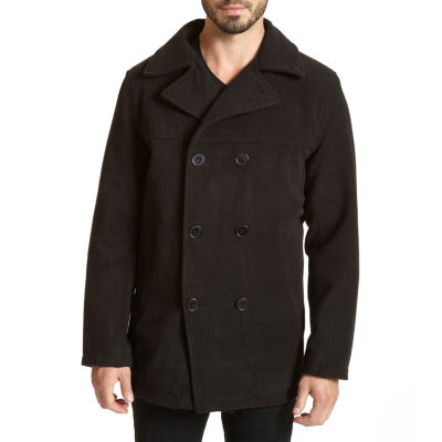 Excelled® Faux-Wool Pea Coat–Big & Tall