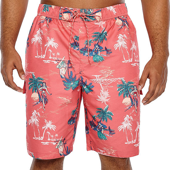 6691fc98c2 The Foundry Big & Tall Supply Co. Pattern Swim Shorts- Big and Tall -  JCPenney