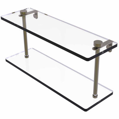 Allied Brass 16 IN Two Tiered Glass Shelf