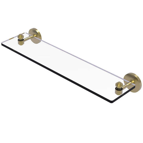 Allied Brass South Beach Collection 22 IN Glass Vanity Shelf With Beveled Edges