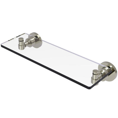 Allied Brass Washing Square Collection 16 IN GlassVanity Shelf With Beveled Edges