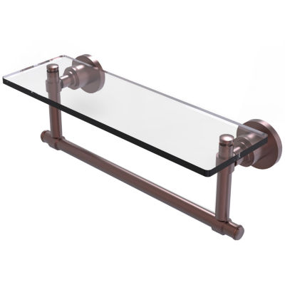 Allied Brass Washington Square Collection 16 IN  Glass Vanity Shelf  With Integrated Towel Bar