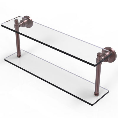 Allied Brass Washing Square Collection 22 IN Two Tiered Glass Shelf