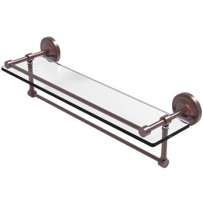 Allied Brass 22 IN Gallery Glass Shelf With TowelBar