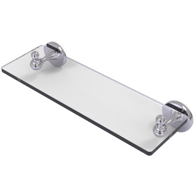 Allied Brass Shadwell Collection 16 IN Glass Vanity Shelf With Beveled Edges