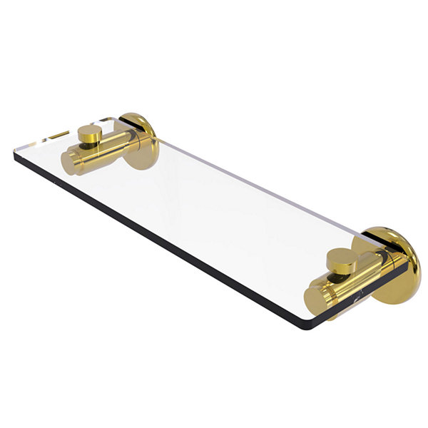 Allied Brass Tribecca Collection 16 IN Glass Vanity Shelf With Beveled Edges