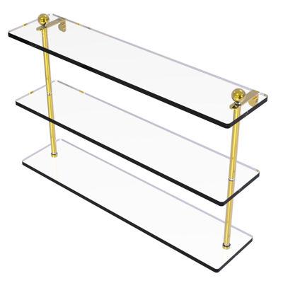 Allied Brass 22 IN Triple Tiered Glass Shelf