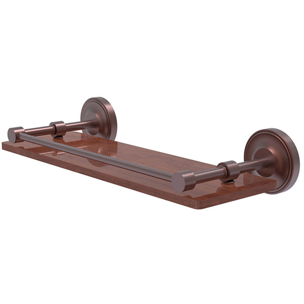 Allied Brass Prestige Regal Collection 16 IN SolidIpe Ironwood Shelf With Gallery Rail