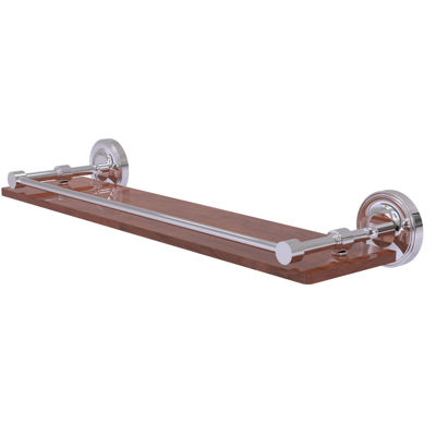 Allied Brass Prestige Regal Collection 22 IN SolidIpe Ironwood Shelf With Gallery Rail