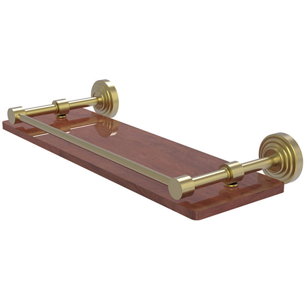 Allied Brass Waverly Place Collection 16 IN SolidIpe Ironwood Shelf With Gallery Rail