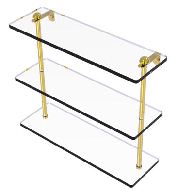 Allied Brass 16 IN Triple Tiered Glass Shelf