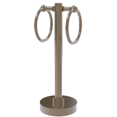 Allied Brass Vanity Top 2 Towel Ring Guest Towel Holder