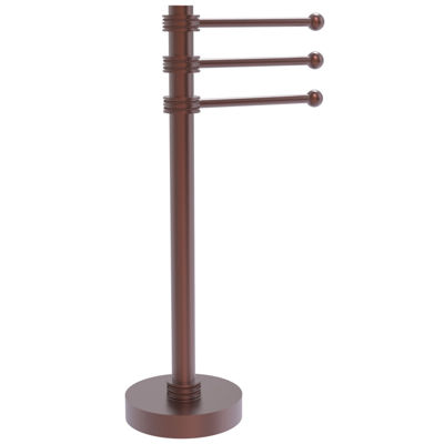Allied Brass Vanity Top 3 Swing Arm Guest Towel Holder with Dotted Accents