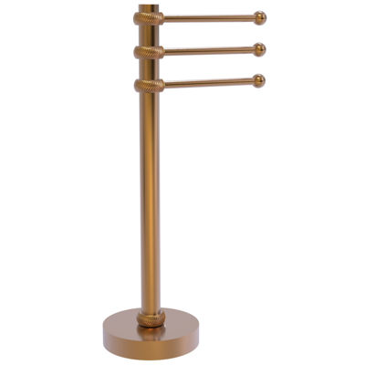 Allied Brass Vanity Top 3 Swing Arm Guest Towel Holder with Twisted Accents