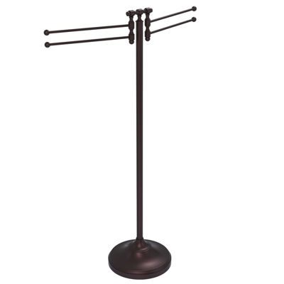 Allied Brass Towel Stand with 4 Pivoting Swing Arms