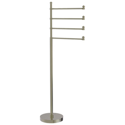 Allied Brass Southbeach Collection Free Standing Towel Stand with 4 Pivoting Swing Arms
