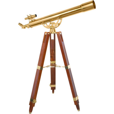 Barska 36X80Mm Anchormaster Telescope Sky & Land Brass Scope W Mahogany Tripod Ae10824
