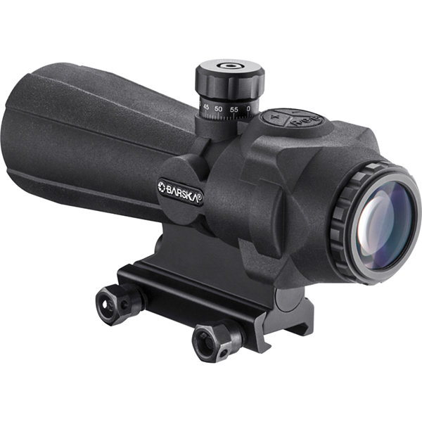 Barska 5X40Mm Arx-Pro Prism Riflescope; 1/4 Moa; Rubber Armored; Black Ac12696