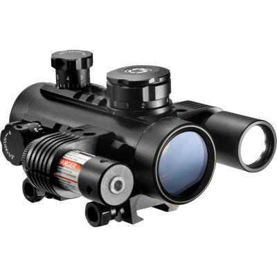 Barska 30Mm Electro Sight Riflescope; W/ Flash Light; Red Laser Sight Ac11398