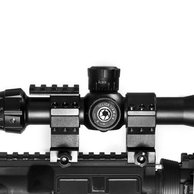 Barska Riflescope Rings - 30Mm W/ 1In Insert; Standard Height; Picatinny Rail; See-Through Base - Ai11484