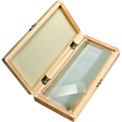 Barska Prepared Microscope Slides 50pcs w/ Wood case
