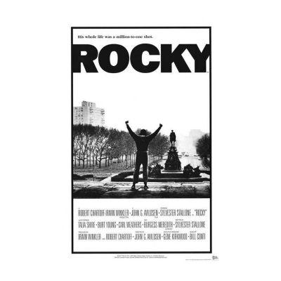 Rocky (1977) Movie Poster Framed Wall Art