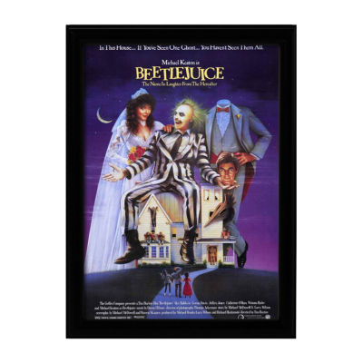 Beetlejuice (1988) Movie Poster Framed Wall Art