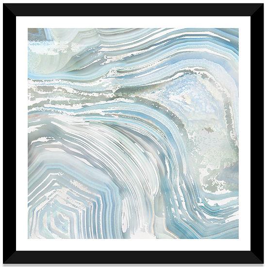 Agate in Blue I by Nan White Framed Fine Art PaperPrint