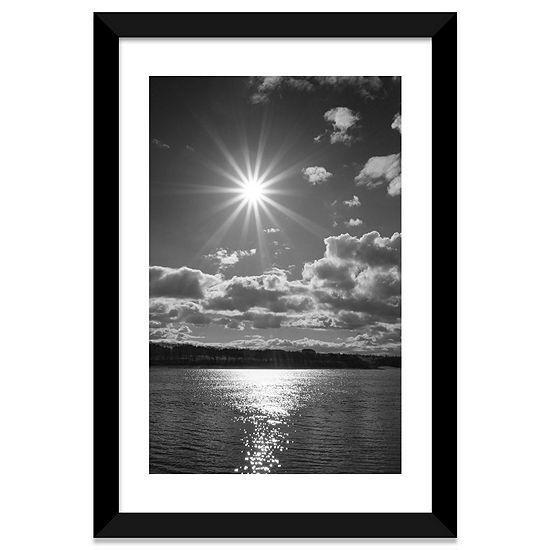 Sun Burst by Martin Henson Black Framed Fine Art Paper Print