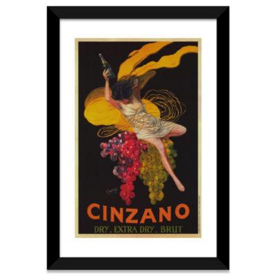 Asti Cinzano (Vintage) by Leonetto Cappiello Black Framed Fine Art Paper Print