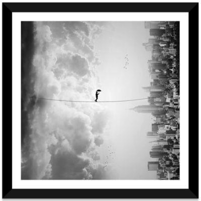 Crossing by Ivan Marlianto Black Framed Fine Art Paper Print