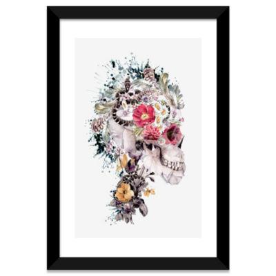 Momento Mori X by Riza Peker White Framed Fine ArtPaper Print