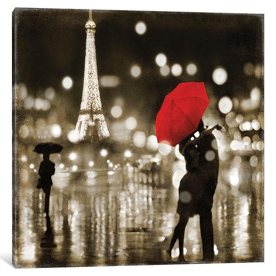 A Paris Kiss by Kate Carrigan Canvas Print