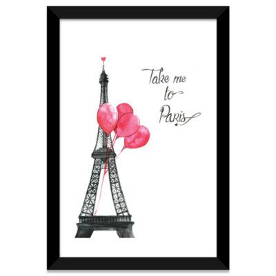 Take Me To Paris by Rongrong DeVoe White Framed Fine Art Paper Print