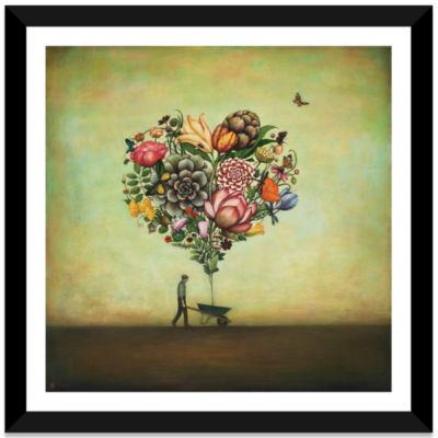 Big Heart Botany by Duy Huynh Black Framed Fine Art Paper Print