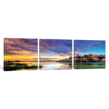 Willow Lake Spring Sunset by Bob Larson Canvas Print