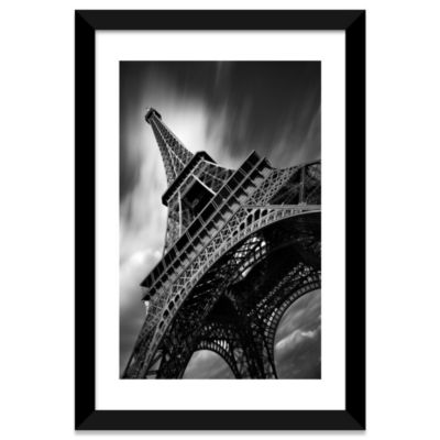 Eiffel Tower Study II by Moises Levy Black FramedFine Art Paper Print