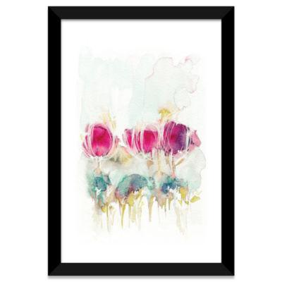 Spring In The Air by Lesia Binkin White Framed Fine Art Paper Print