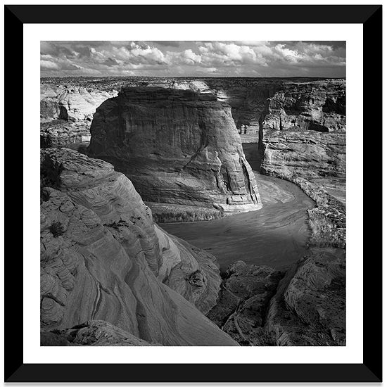Canyon de Chelly by Ansel Adams Black Framed FineArt Paper Print