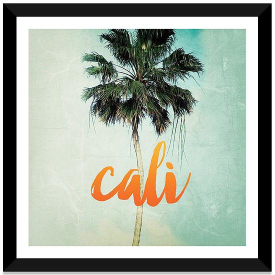 California by Chelsea Victoria White Framed Fine Art Paper Print