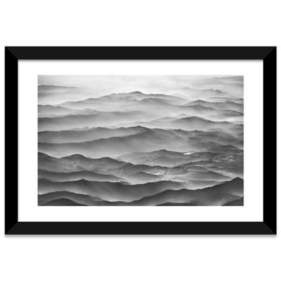 Ocean Mountains by Ben Heine Black Framed Fine ArtPaper Print