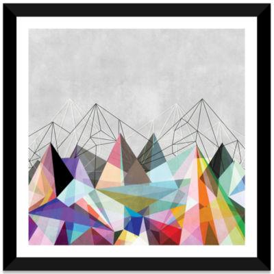 Colorflash III by Mareike Böhmer White Framed Fine Art Paper Print