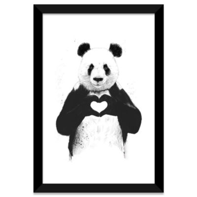 All You Need Is Love by Balazs Solti White Framed Fine Art Paper Print
