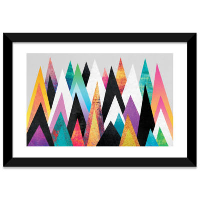 Colorful Peaks by Elisabeth Fredriksson Black Framed Fine Art Paper Print