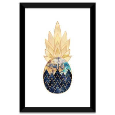Precious Pineapple I by Elisabeth Fredriksson White Framed Fine Art Paper Print