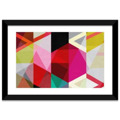 Modern Art - View Through a Kaleidoscope by 5 Collective Black Framed Fine Art Paper Print