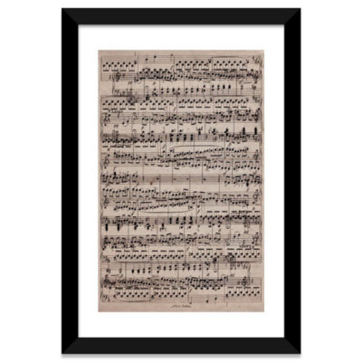 Modern Art - Sheet Music Ode to Joy by 5 Collective White Framed Fine Art Paper Print