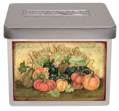 LANG Pumpkin Harvest Small Jar Candle - 12.5 Oz